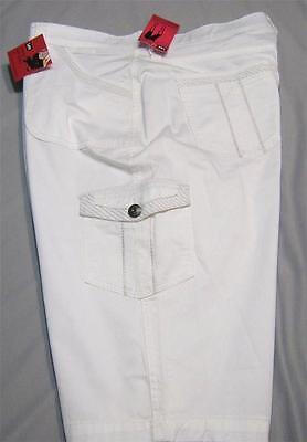 Lee Comfort Fit Skimmers Womens White Bermuda Shorts No Gap Waistband 6 P