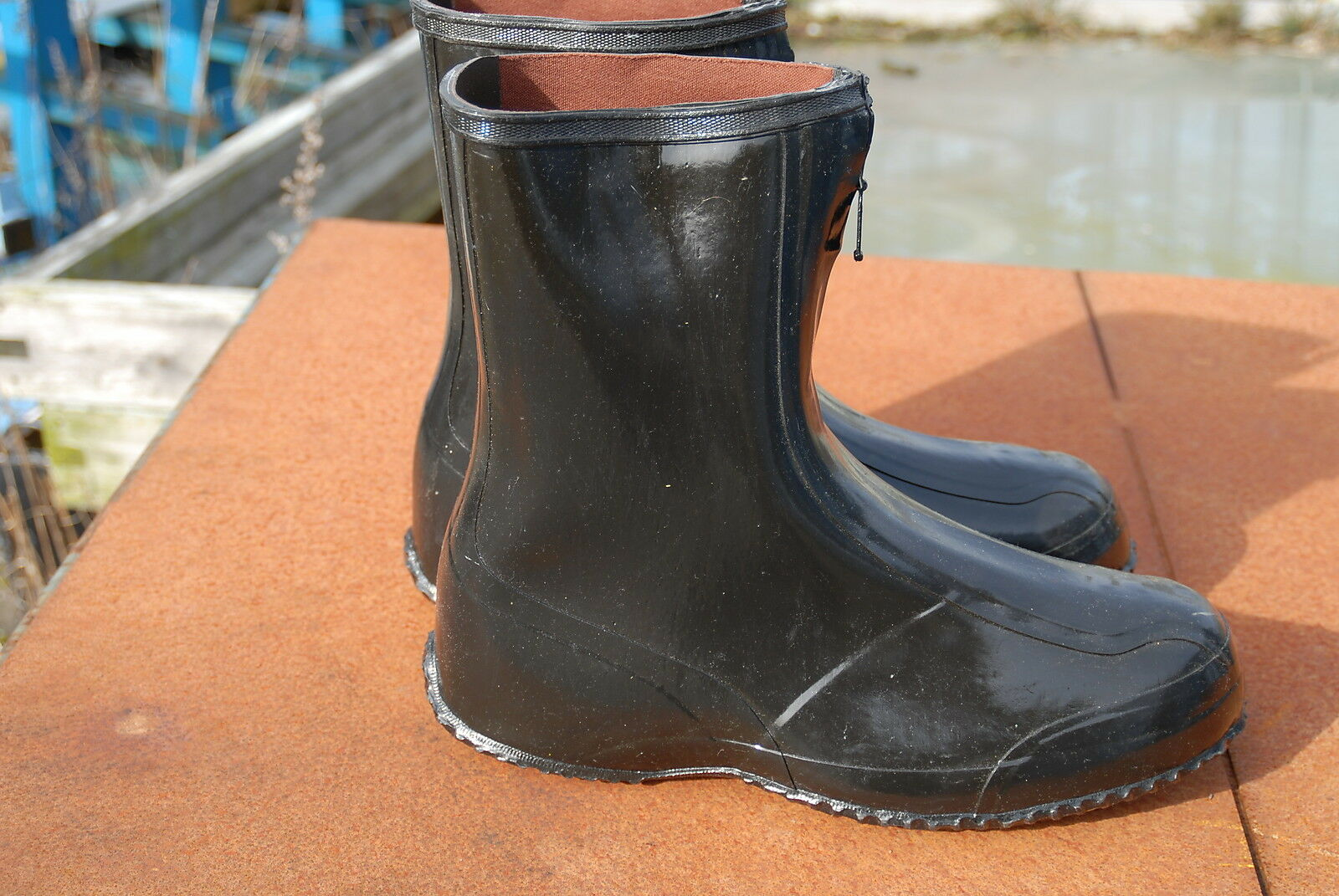 Rubber Overboots Galoshes   Fit shoe size 9 -  9 1 2