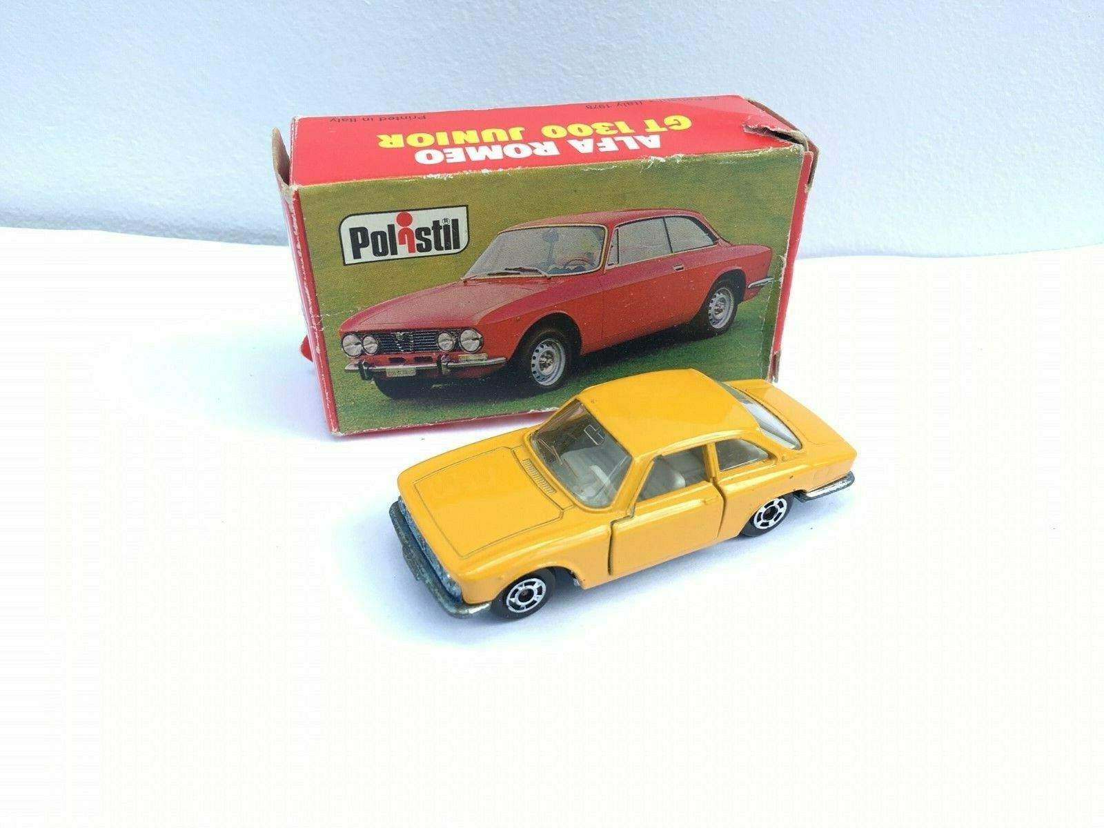 POLISTIL RJ.45  ALFA ROMEO GT 1300 JUNIOR BOXED.  Rare 1978 model