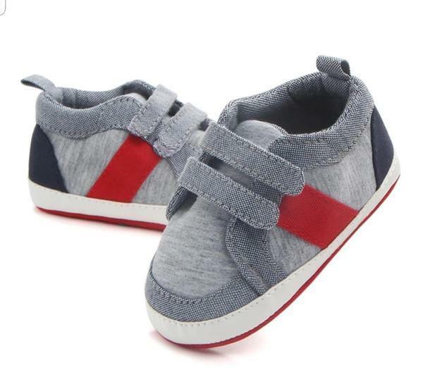 Baby Boy Velcro Canvas Sneaker - Soft Sole - Anti-Slip ...
