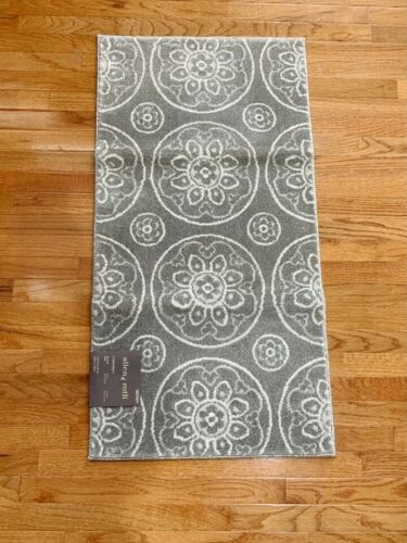 allen roth Chatterly Gray Indoor Moroccan Throw  Rug  2/' x 4/'