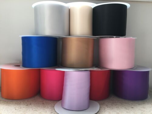 Satin Sash Ribbon 100mm 4 inch 4  wide 18 colours Hen Nights Weddings Parties