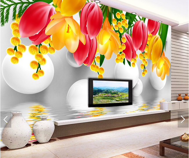 3D Blossom 4019 Wallpaper Murals Wall Print Wallpaper Mural AJ WALL UK Carly