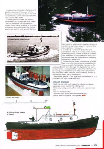 Diesel Schlepper NAAMA TUG Modellbauplan RC