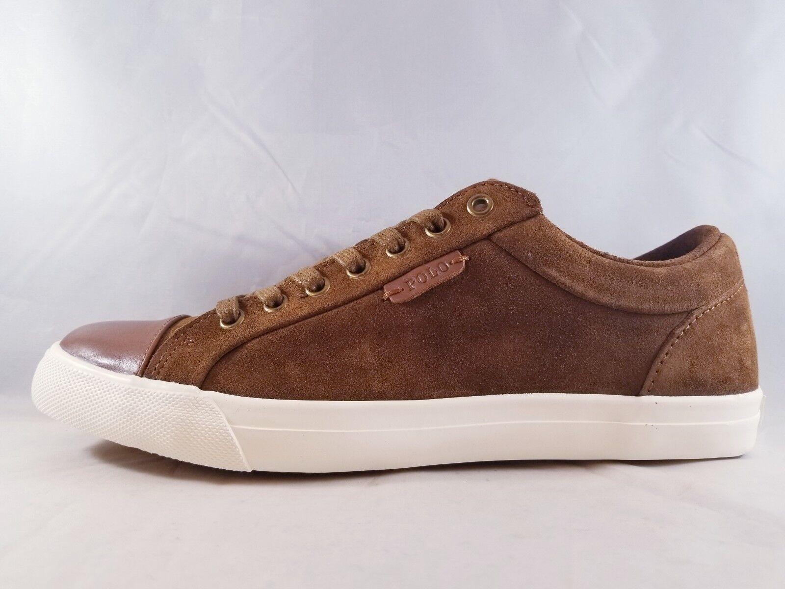 Polo Ralph Lauren Geffrey Tan Suede Men's Casual Sneaker Size 9.5