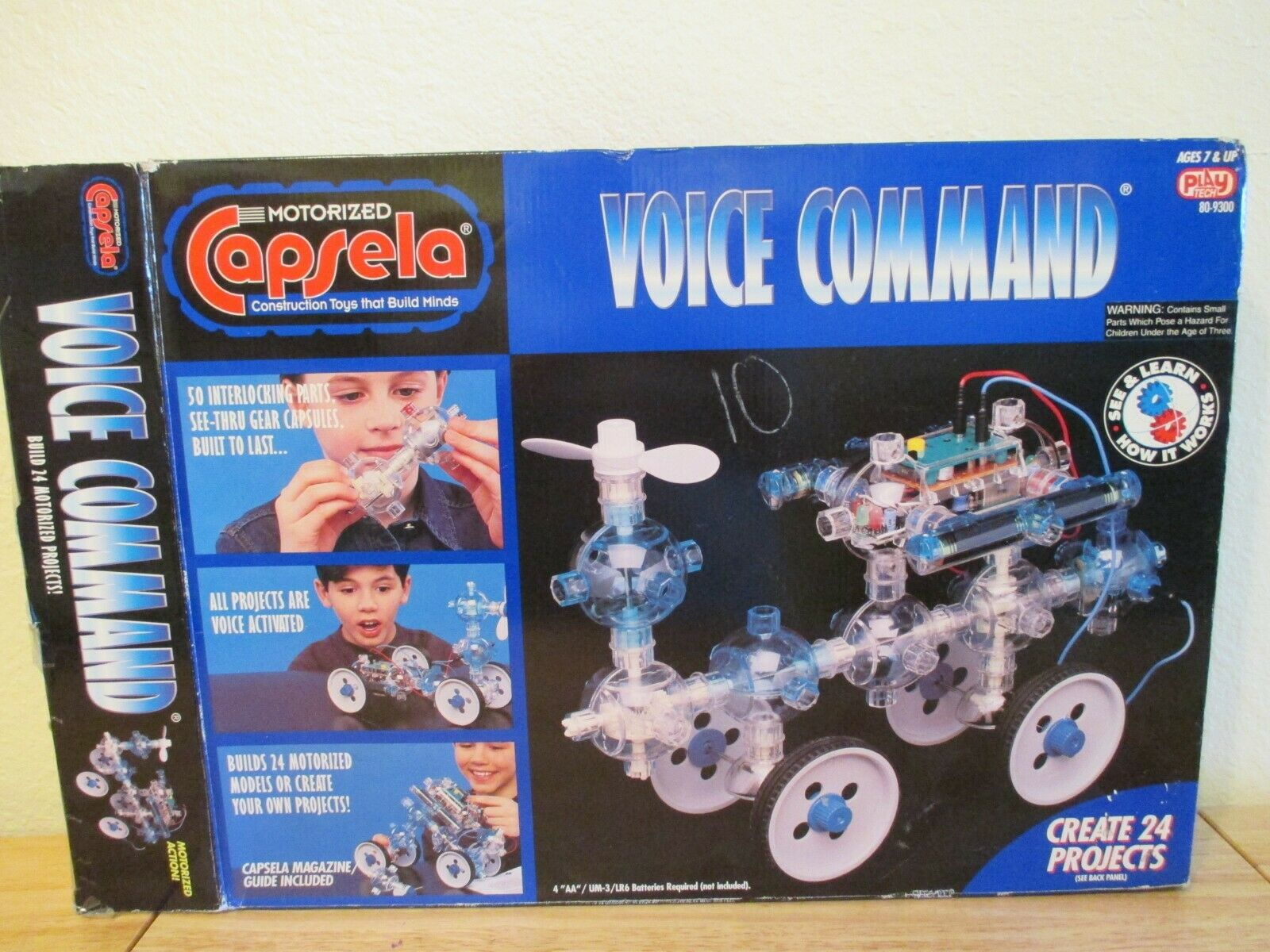 CAPSELA MOTORIZED VOICE COMMAND 3000 WITH Manuals and Cassette
