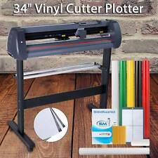 34 Vinyl Cutter Plotter Sign Cutting Machine Withsoftware3 Bladesamplcd Screen