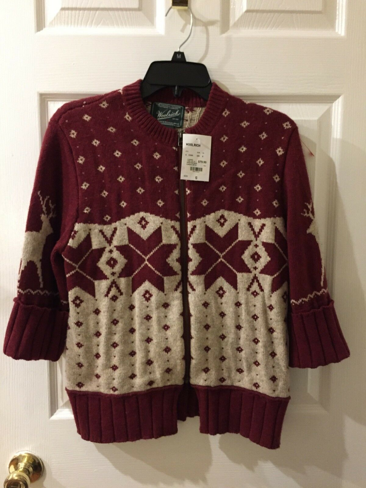 Woolrich Zip Sweater Women's Size Small, New With Tags