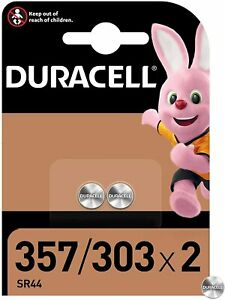 DURACELL-357-303-Pile-Oxyde-d-039-argent-1-5-V-Blister-de-2-piles-DATE-03-2024