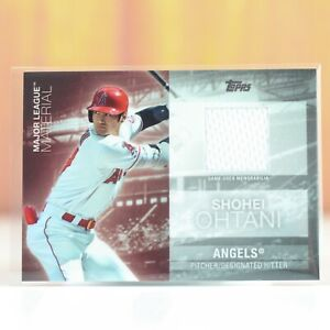 SHOHEI OHTANI 2020 TOPPS UPDATE MLM-OHT MAJOR LEAGUE MATERIAL Jersey Card Angels