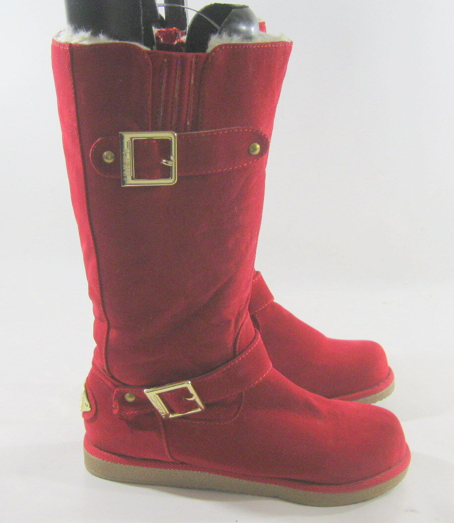 New ladies Red Round Toe sexy Winter Mid-Calf Boot Size 5.5