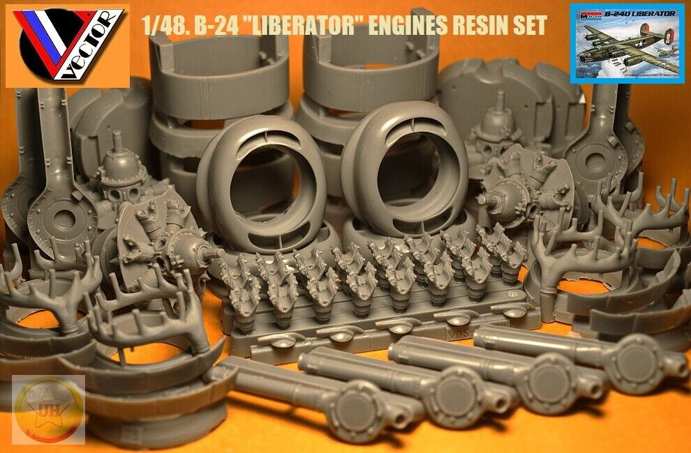 1 48. B-24  Liberator  powerplant resin set, by  Vector  VDS 48-078