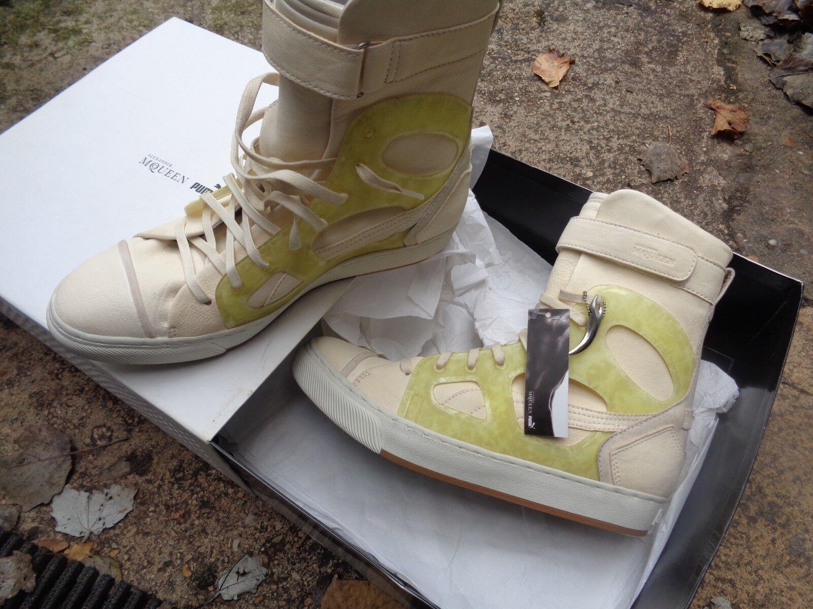 Zapatillas Alexander McQueen para Puma blancoo blancoo blancoo Nuevo en Caja eu40 uk6.5 us9  nueva gama alta exclusiva