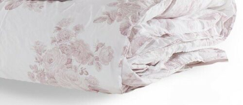 SHABBY CHIC COUTURE HIGH END LINE QUEEN DUVET NEW RACHEL ASHWELL PINK ROSESWHITE