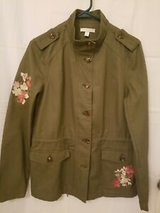 Westport Women/'s Grey Embroidered Jacket Size 2X