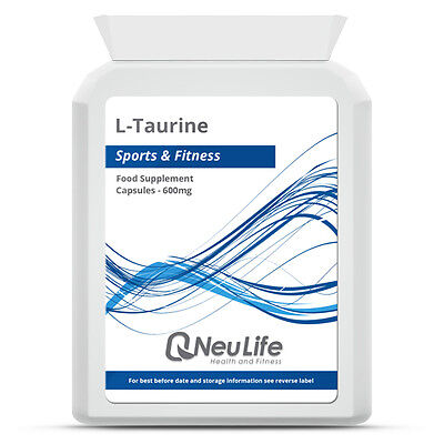 L-Taurine - 600mg Choose Qty: 60|90|120|240|360