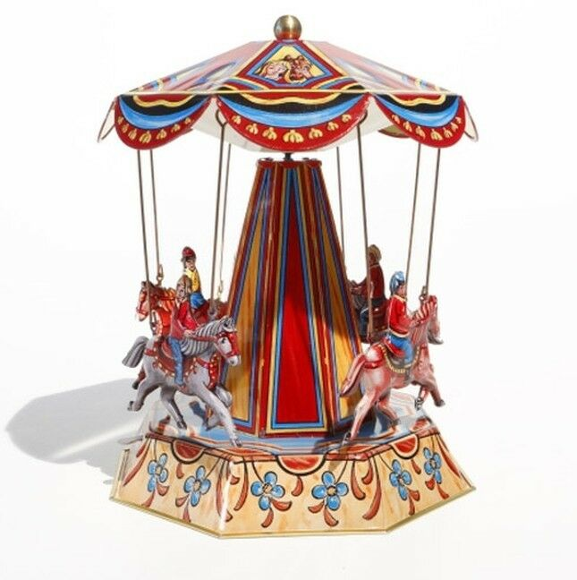 Carousel Horses Carousel M Horse Funfair Tin Toy - Made in Germany 610