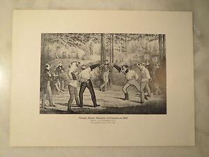 Tuebingen-Mensur-Corps-Rhenania-c-a-Franconia-um-1840-Nachdruck-Studentika