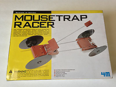 NEW 4M MOUSETRAP RACER Kit, Toysmith #3779 Science Fair Olympiad Gifts Free Ship