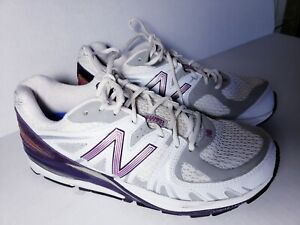 on sale 8af8d 2d23e Details about New Balance Running Motion Control Shoes White with Purple  Wms sz 10 Made in USA