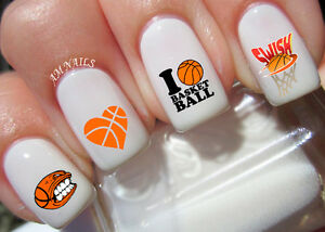 Image Is Loading Basketball Nail Art Stickers Transfers Decals Set Of