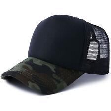 Usa 10pcs Black Camouflage Polyester Mesh Baseball Cap Hat Sublimation Blanks