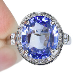 BLUE-TANZANITE-OVAL-RING-SILVER-925-UNHEATED-6-65-CT-11-9X10-3-MM-SIZE-7