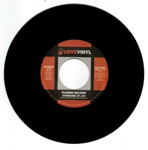 EUGENE RECORD Overdose Of Joy / I Want To Be With You NEW MODERN SOUL 70s 45 7""