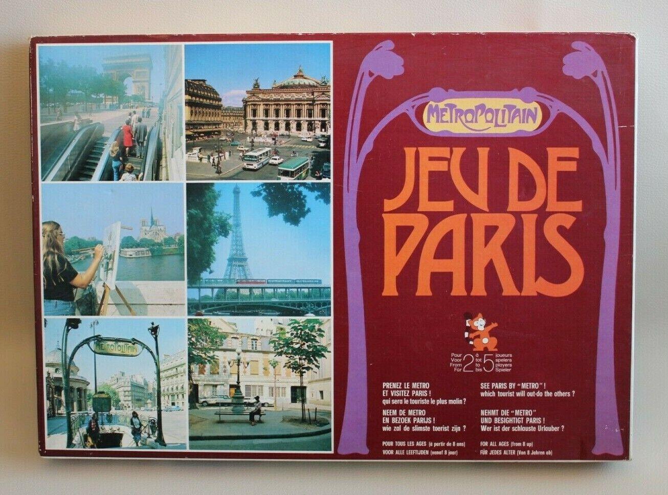 Jeu de Paris Metropolitain - MAKO MAKO MAKO 1973 complet bon état - jeu société vintage 6f856e