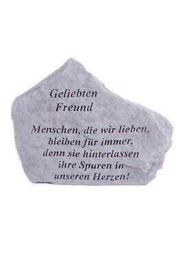 """Gedenkstein """"geliebten Freund..."""" Vidroflor Steinguss Friedhof Frostfest 15562 100% Hochwertige Materialien Grabsteine"""