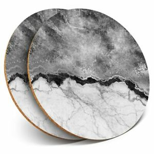 2-x-Coasters-bw-Marble-Effect-Rock-Grey-Black-43357