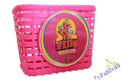 Kinderkorb Fahrradkorb für Kinder VR Filly Unicorn pink