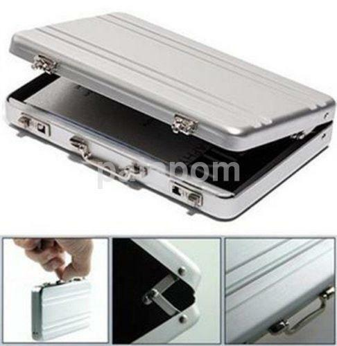 Cool Aluminum Password Briefcase Business Card Credit Card Holder Case Box US