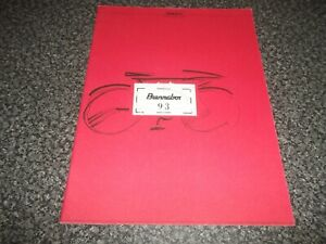 1993 Bicycle Brochure. Brennabor 93. English & German Text. Fire Club Mosquito