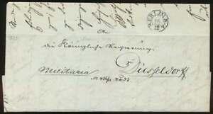 Vorphila BERLIN-Stempel KBHW 4, K1 BERLIN Militaria-Faltbrief DÜSSELDORF (63889)
