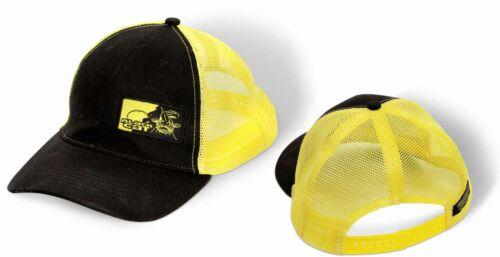 BLACK CAT Waller-Kleinteile Trucker Cap uni schwarz//gelb