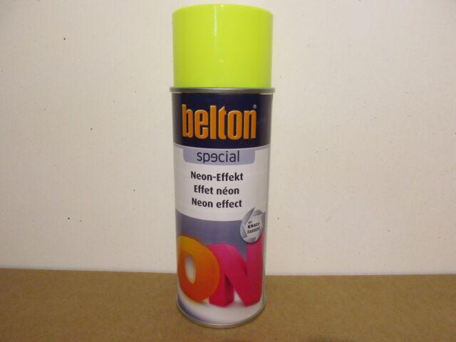 1 Spraydose Lack Neongelb Sprühdose Gelb Neon 400ml Belton Sprühlack Lackspray