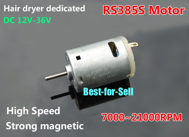DC12V-36V RS-385 DC Motor Strong Magnetic High Speed 21000RPM DIY Electric  drill