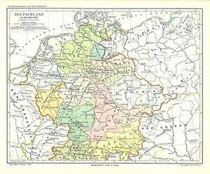 alte landkarte deutschland Alte historische Landkarte 1895: Deutschland um das Jahr 1000. (M5