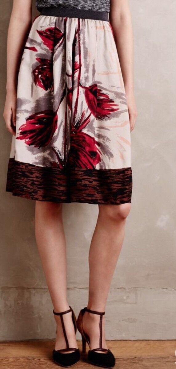 NEW  298 Erika Cavallini Semi Couture Apois Silk Skirt Size 38