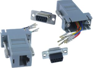 9 pin db9 rs232 female to rj45 8p8c network female socket adapterimage is loading 9 pin db9 rs232 female to rj45 8p8c