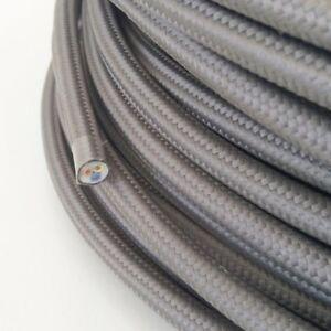 Textilkabel-Stoffkabel-Textilleitung-rund-grau-3x0-75mm-H03VV-F