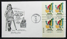 US Artmaster Cachet Cover FDC Columbus Hope Block 24c USA Ersttagsbrief (H-7237