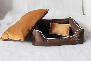 Lit super pour chien avec 2x oreillers, canapé pour chien, oreiller pour chat, panier pour chien, brun xl