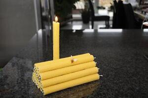 14-BOUGIES-DE-TABLE-100-CIRE-D-039-abeille-fait-a-la-main-Nature-idee-cadeau