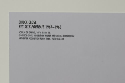 CHUCK CLOSE BIG SELF-PORTRAIT 1967-1968  Kunst-Postkarte