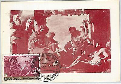 62805 - Rwanda - Postal History: Maximum Card 1967 - Art: Il Calabrese Aesthetic Appearance
