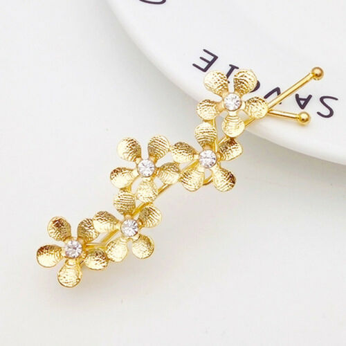 Femme Fashion Strass Cristal Fleur Métal épingle à cheveux Barrette Épingle à Cheveux Clip