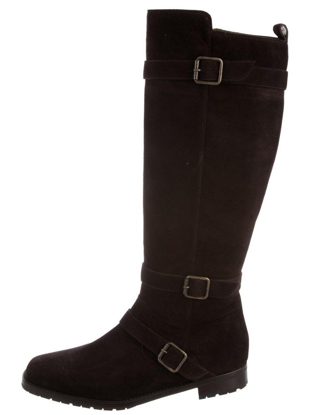 1695 Nueva Manolo Blahnik campo lema Plana De Gamuza Marrón Rodilla alta botas Zapato 40  Ahorre 60% de descuento y envío rápido a todo el mundo.