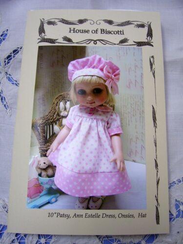 "Hat 10/"" Tonner Patsy Onsies Ann Estelle PATTERN for Dress"